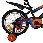 Детский велосипед Azimut Stitch 16 дюймов серый, фото 6