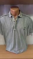 Мужская футболка-поло на кнопке новинка этого сезона с вышивкой на груди