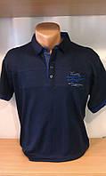 Мужская футболка-поло на пуговицах новинка этого сезона с вышивкой герба на груди и вставкой на воротнике