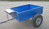 Прицеп-самосвал для мотоблока (125х100х35 см) ТМ Ярило под жигулевскую ступицу (без колес)