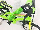 Детский велосипед Azimut Stitch 16 дюймов зеленый, фото 4