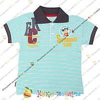 Полосатые футболки с воротником пр- во Турция от 2 до 6 лет (3384-2)