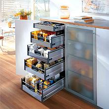 Системы кухонных выдвижных ящиков