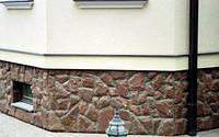 Облицовка цоколя дома натуральным камнем