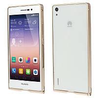 Чехол бампер slim aluminium alloy для Huawei Ascend P7 золотой