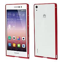 Чехол бампер slim aluminium alloy для Huawei Ascend P7 красный