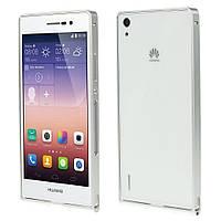Чехол бампер slim aluminium alloy для Huawei Ascend P7 серебро