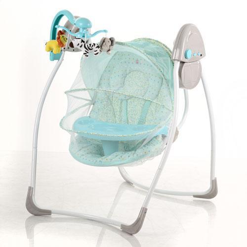 Детская электрокачель SW 103-12 с москитной сеткой