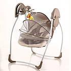 Детская электрокачель SW 103-12 с москитной сеткой, фото 2