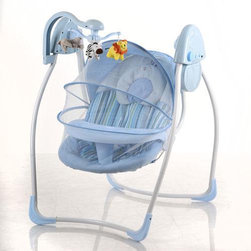 Детская электрокачель SW 103-4 с москитной сеткой
