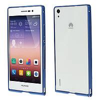 Чехол бампер slim aluminium alloy для Huawei Ascend P7 синий