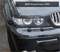 Реснички на фары BMW X5 E53 рестайл