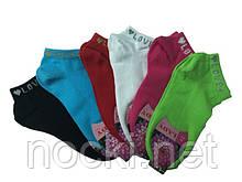 Шкарпетки жіночі бавовна короткі яскраві Туреччина