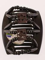 Заколка для густых волос African butterfly Dupla 004 черная толстая