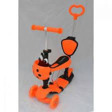 Самокат детский трехколесный Best Scooter 4в1оранжевый***