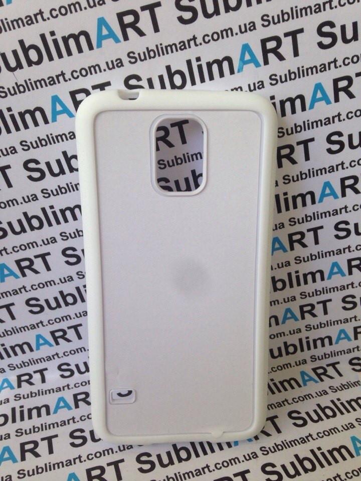 Чехол для 2D сублимации резиновый (TPU) на Samsung Galaxy S5 белый