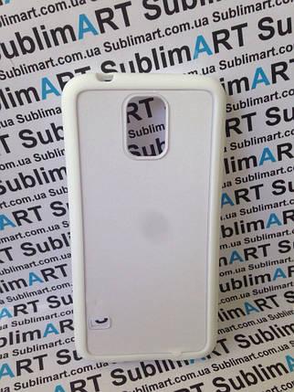 Чехол для 2D сублимации резиновый (TPU) на Samsung Galaxy S5 белый, фото 2