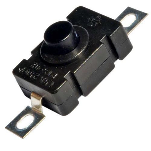 Кнопочный выключатель для фонаря с фиксацией ON-OFF прямоугольный
