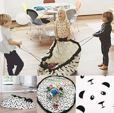 Коврик-мешок для игрушек 140см. Игровой коврик для детей, фото 3