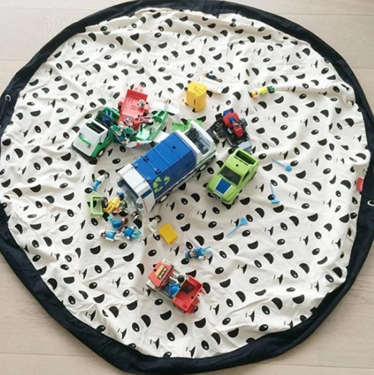 Коврик-мешок для игрушек 140см. Игровой коврик для детей