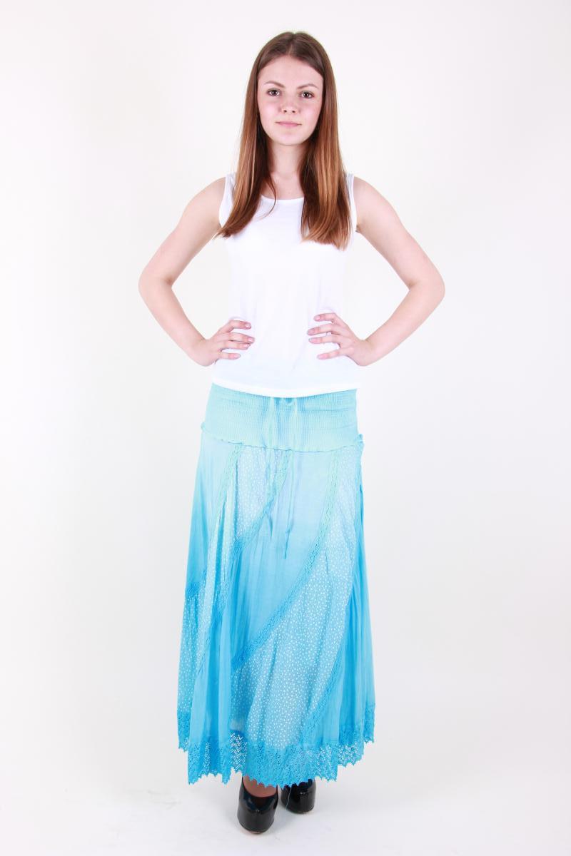 Легкая летняя юбка для прогулок разные цвета