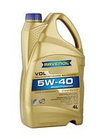Ravenol VDL SAE 5W-40 кан. 4л синтетическое  моторное масло  для  дизельных моторов с и без турбонадува , фото 1