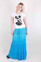Модная однотонная юбка пол для девушек из натуральной ткани