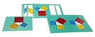Теорема Пифагора — для выведения формул площадей геометрических фигур   (металл)