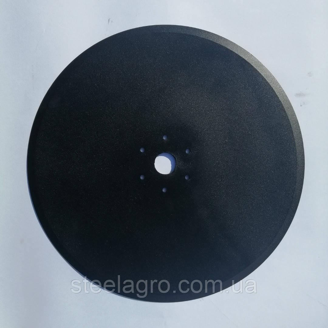 Диск сошника сеялки Lemken 350х3.5мм ф35мм 6отв.6мм, межосевое 70мм Лемкен Solіtaіr X8 (68989,3490010)