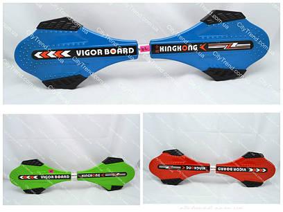 Двухколесный скейт рипстик. Металлическая дека, усиленная подвеска (до 80 кг)