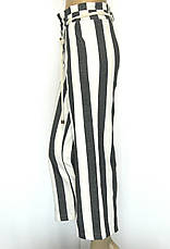 Жіночі широкі штани в полоску з високою талією, фото 2