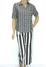 Жіночі широкі штани в полоску з високою талією, фото 3