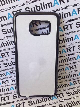 Чехол для 2D сублимации пластиковый на Samsung Galaxy S6 черный, фото 2