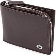 Оригинальный кожаный кошелек на кнопках ST Leather