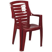 Крісло пластикове «Рекс», вишневе
