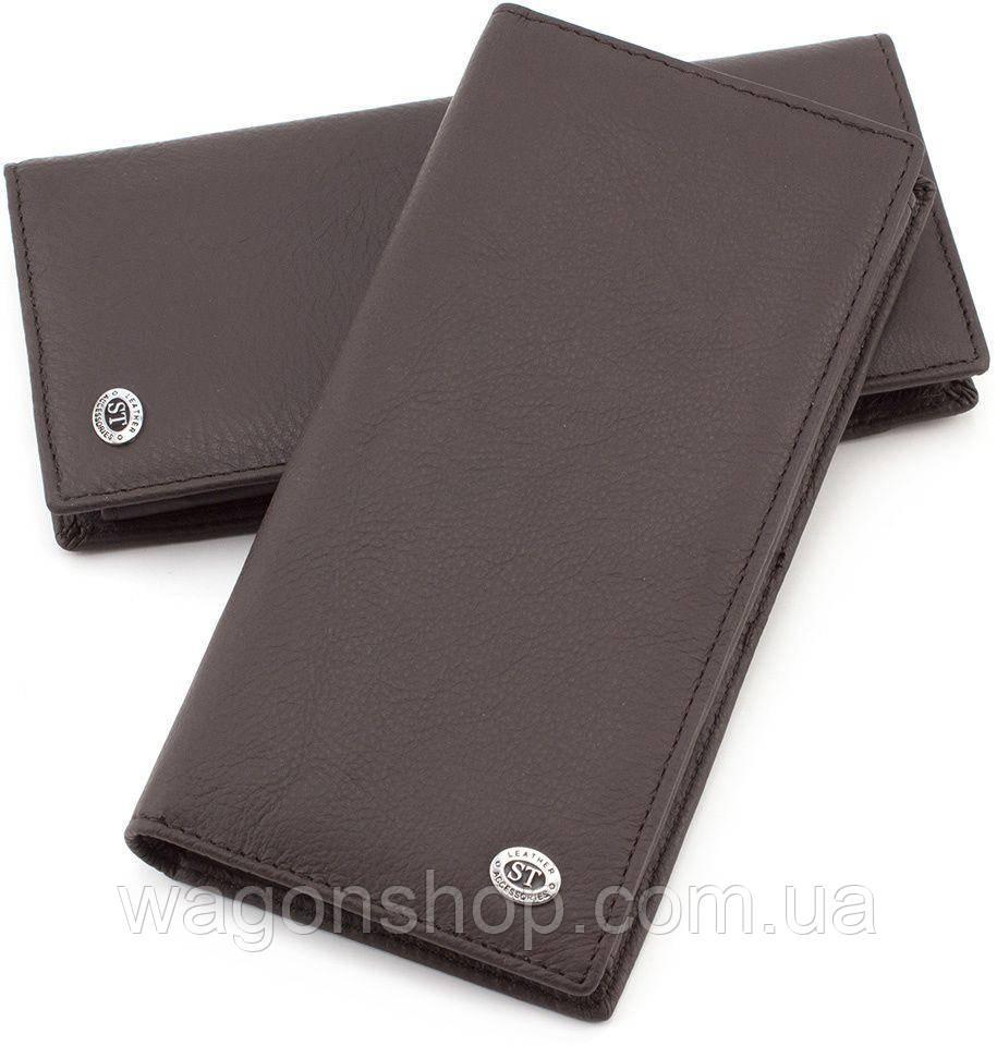 Мужской кожаный купюрник без застежки ST Leather