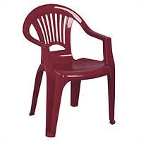 Крісло пластикове «Промінь», вишневе