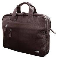 Деловая кожаная сумка для документов формата А4 и ноутбука 15 дюймов от VIP COLLECTION