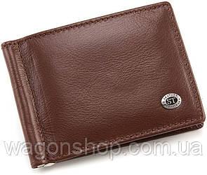 Кожаный зажим для денег коричневого цвета ST Leather