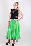 Яркая летняя длинная юбка модного кроя из натуральной ткани, фото 5