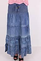 Стильная женская юбка из джинса  больших размеров