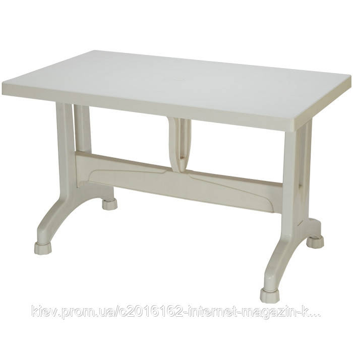 Пластиковый стол кокнар з пластиковими ножками белый