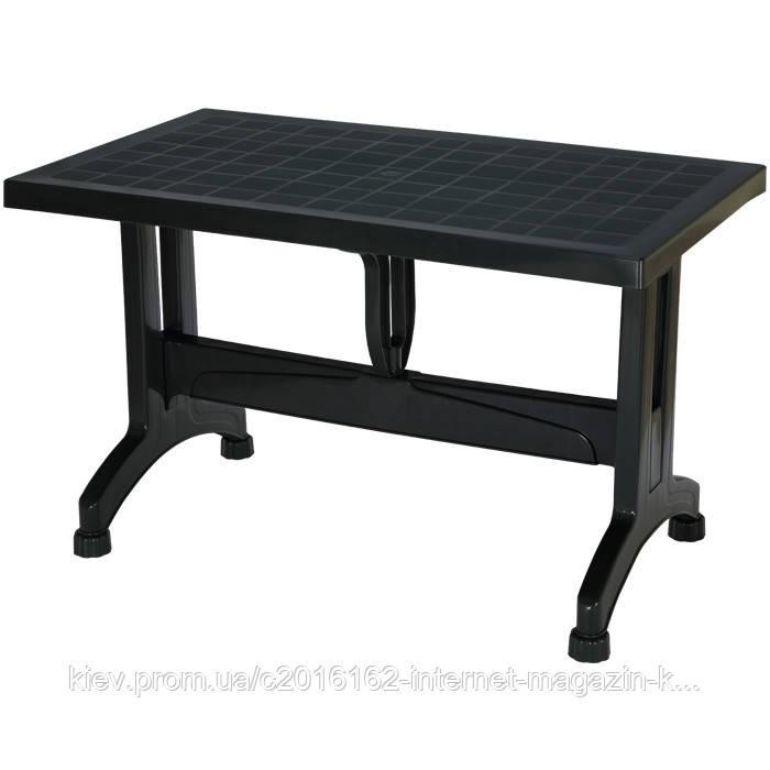 Пластиковый стол кокнар з пластиковими ножками темно-зеленый