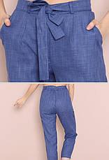 Жіночі літні штани на резинці з високою талією, фото 2