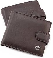 Кожаное мужское портмоне на застежке ST Leather