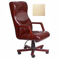 Кресло для руководителя Геркулес Экстра вишня Мадрас дарк браун