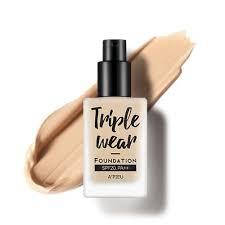 Тональная основа A'PIEU Triple Wear Foundation SPF20/PA++(No.3/Warm Ivory),тональный,солцезащитный,оригинал, фото 2