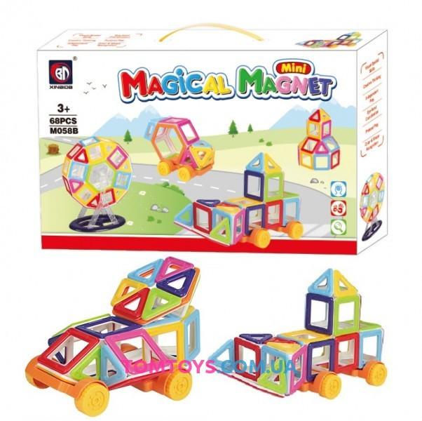 Магнитный конструктор Magic World на 68 деталей M058B ***