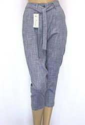 Жіночі літні штани на резинці з високою талією