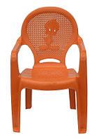 Пластиковое кресло детское Утенок оранжевый
